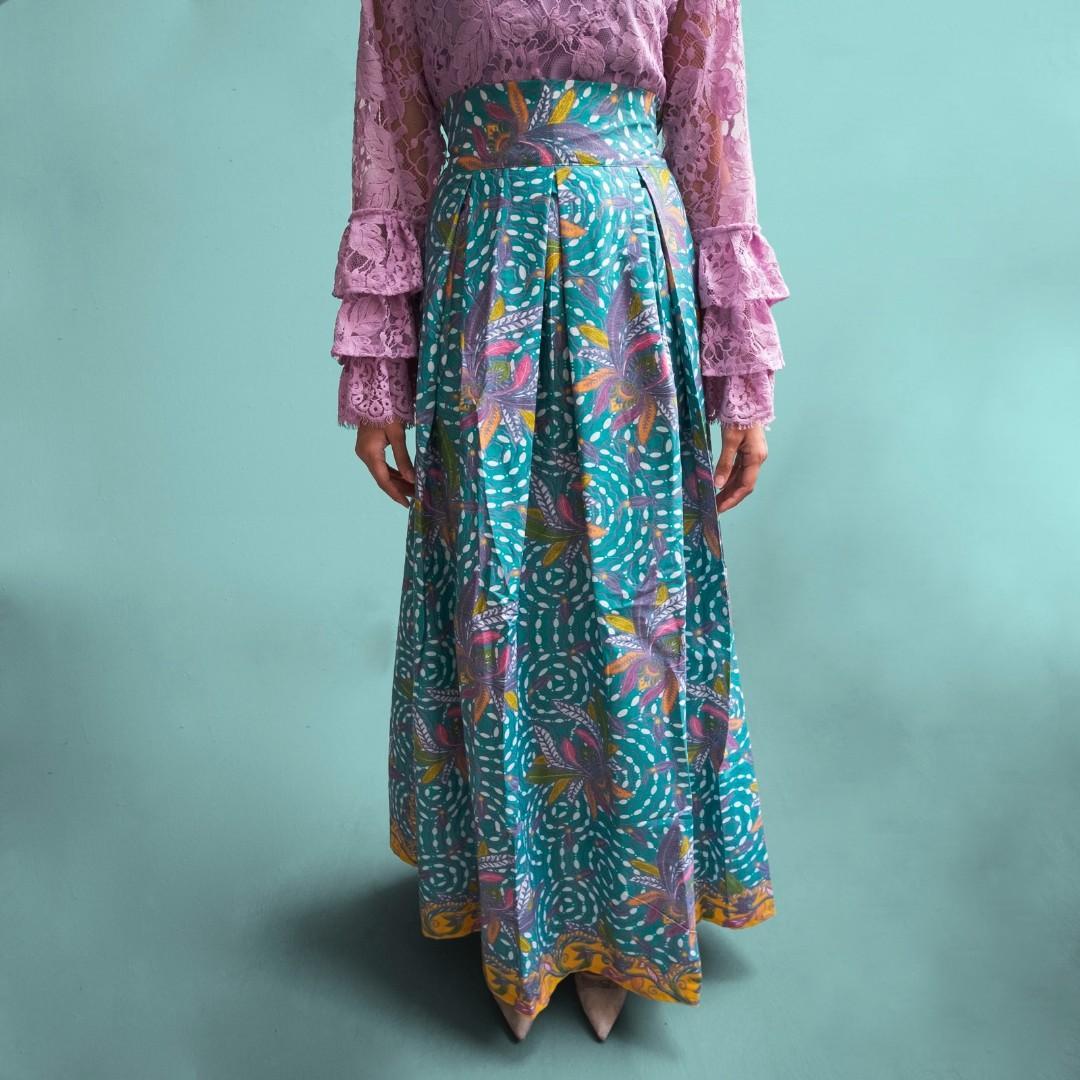 Batik high waisted skirt - Jasmine
