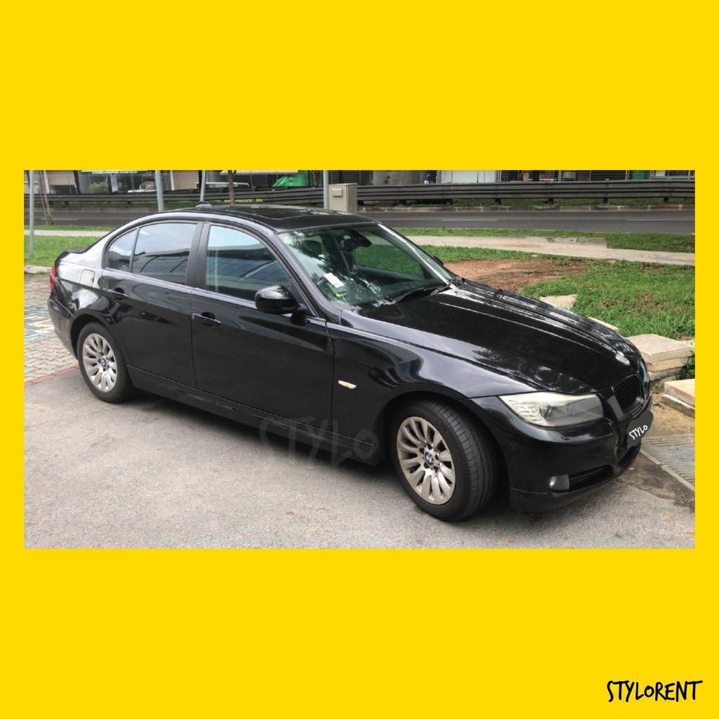 BMW 318i Sedan CAR RENT GRAB GOJEK RYDE CHEAP RENTAL FUEL SAVING
