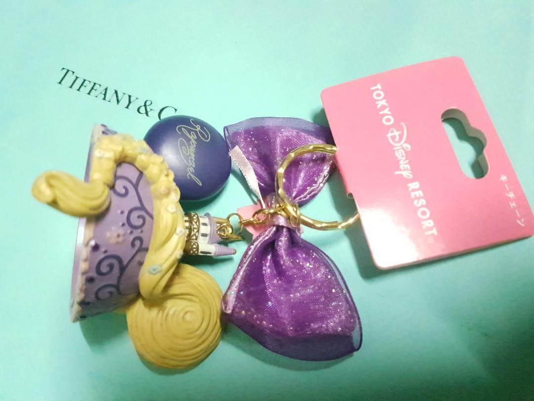 BNWT Tokyo Disneyland Japan Imported Tabgles Rapunzel Disney Princess Keychain