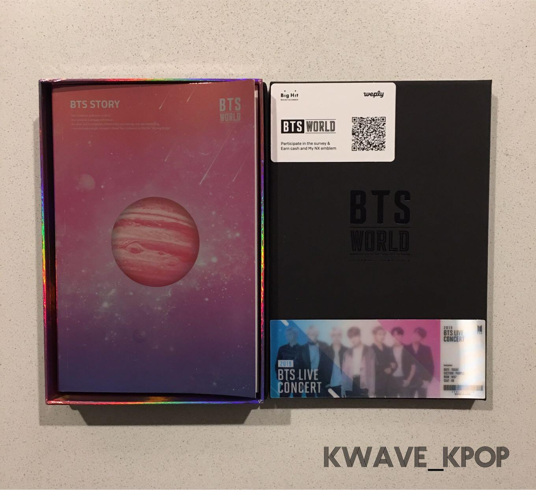 BTS 방탄소년단 WORLD OST} - CD Album + Photo Book + Lenticular Card - Brand New Unsealed