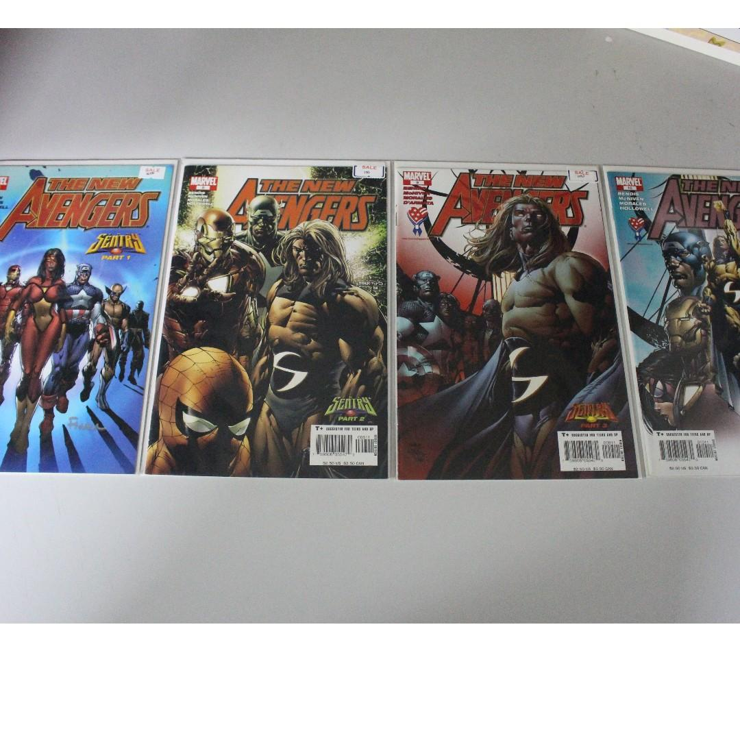 Complete New Avengers Sentry Story Arc (With Issue 7 signed by David Finch) VF-NM