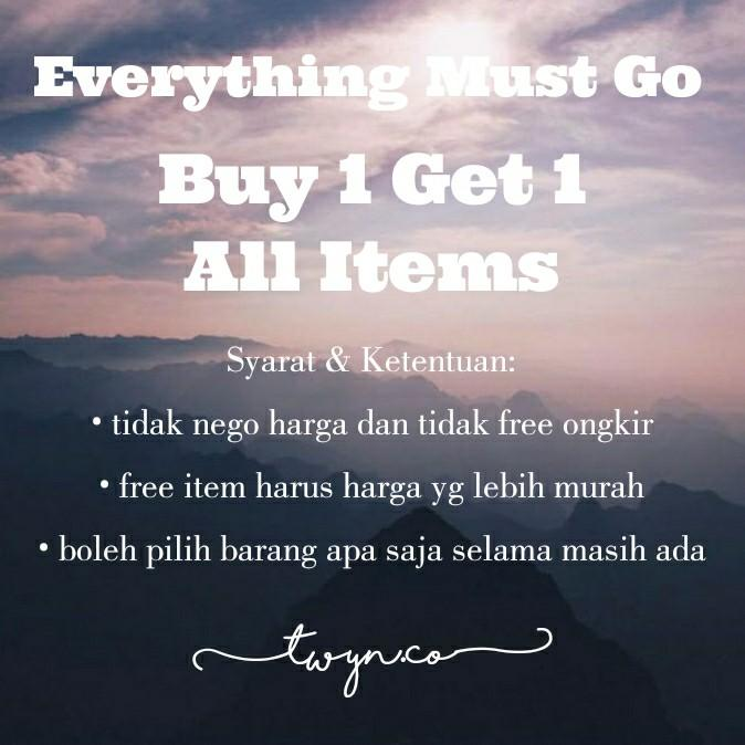 CUCI GUDANG, BUY 1 GET 1 ALL ITEMS #ShopbackCarousell #PrelovedWithLove #LalamoveCarousell #HBDCarousell