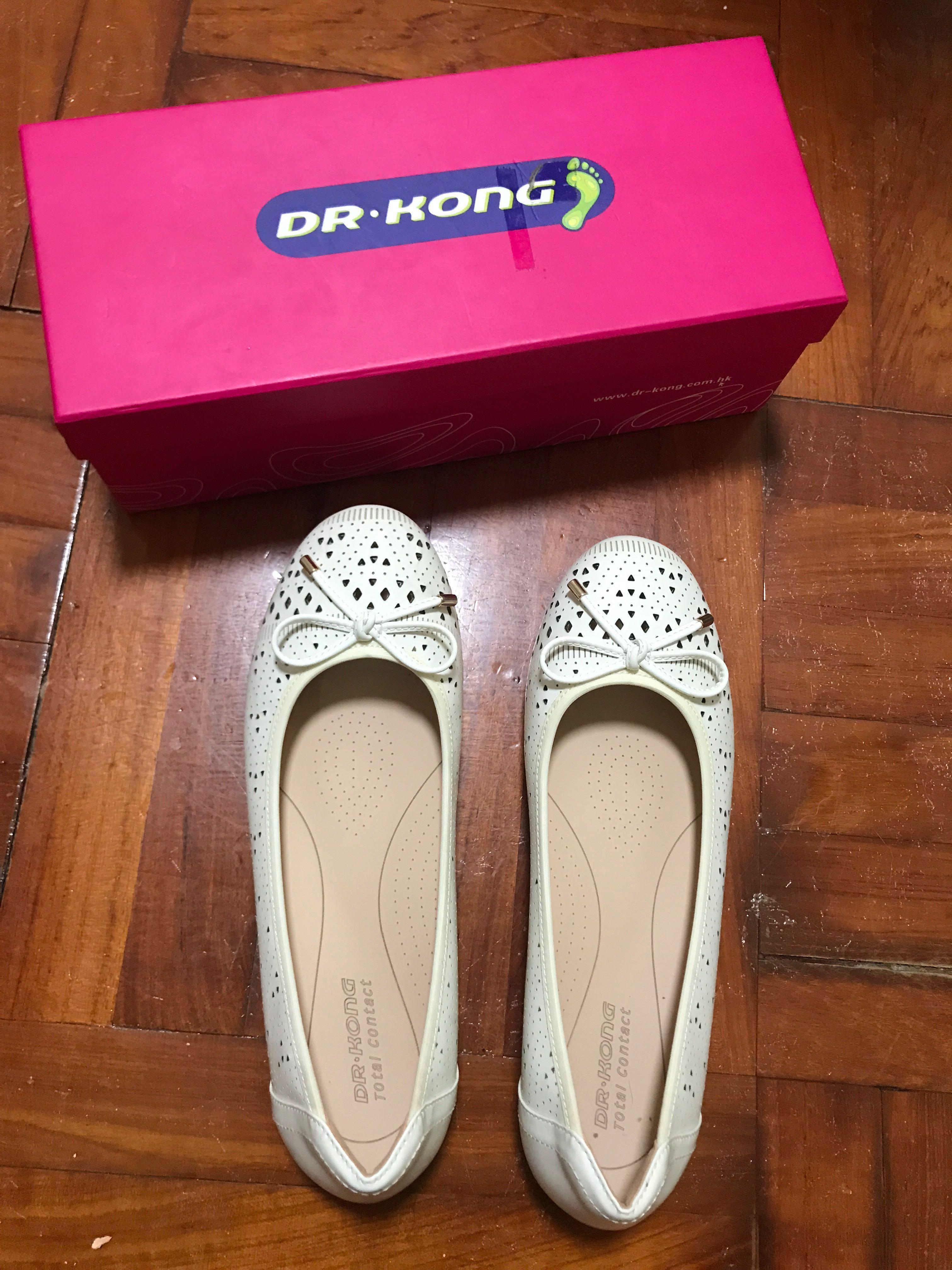 Dr.Kong 白色平底鞋