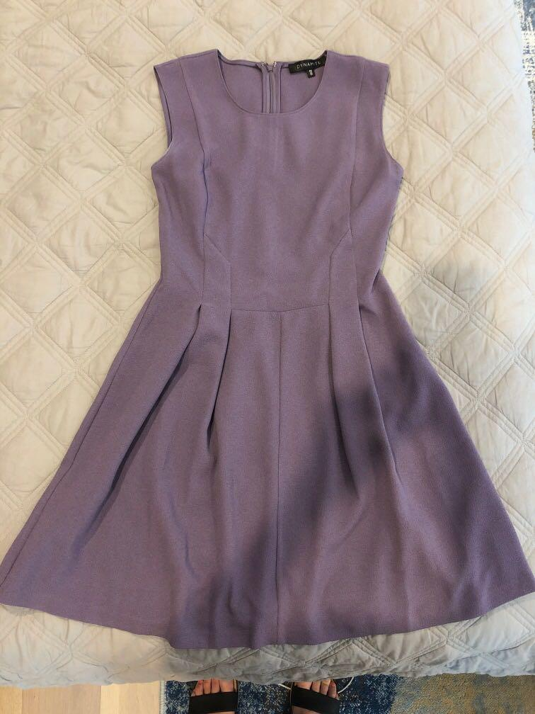 Dynamite - Lavender Pleated A-Line Dress - Size Small
