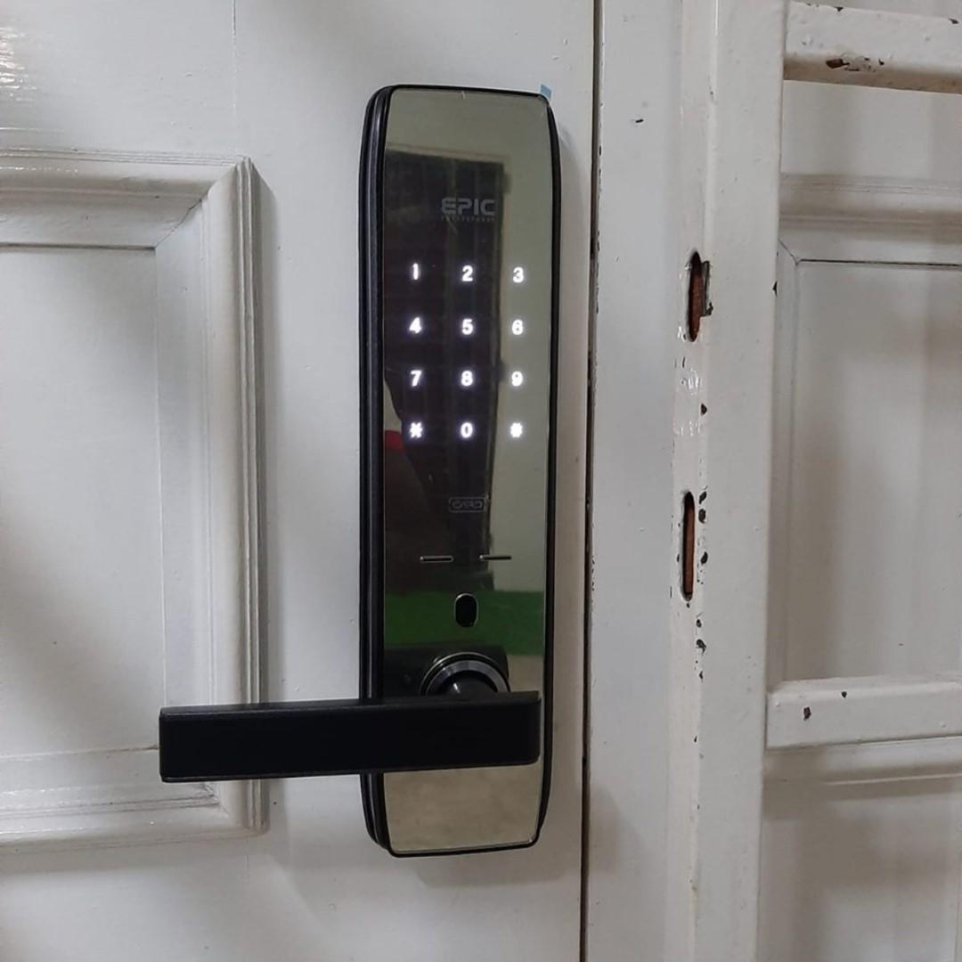 Epic 5G Pro Digital Lock + Epic Shine(Card) Door Digital Lock for HDB HP 90677990