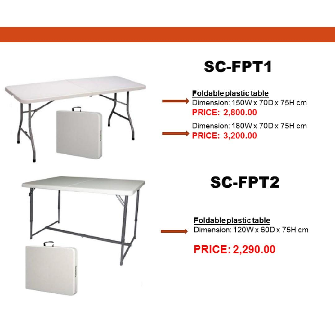 Foldable Plastic Table Office