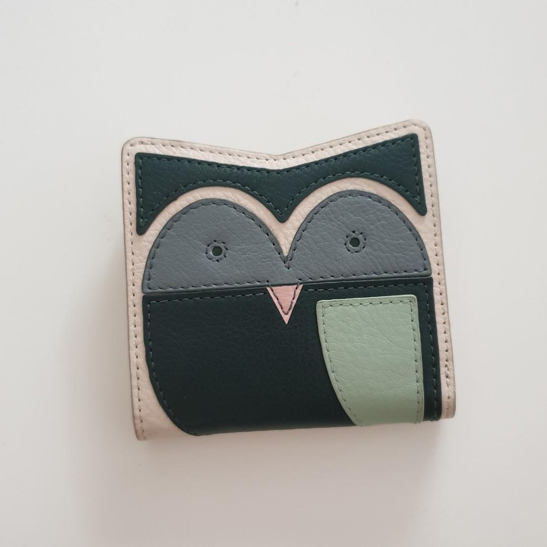 3d912071852 Fossil Alpine Green Party Animal Leather Owl Bifold Wallet SL7656307 ...