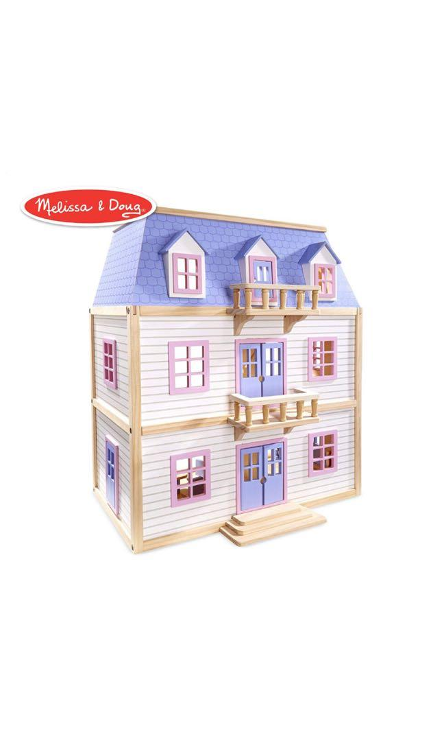 Free Delivery Melissa Doug Multi Level Dollhouse Toy On Carousell