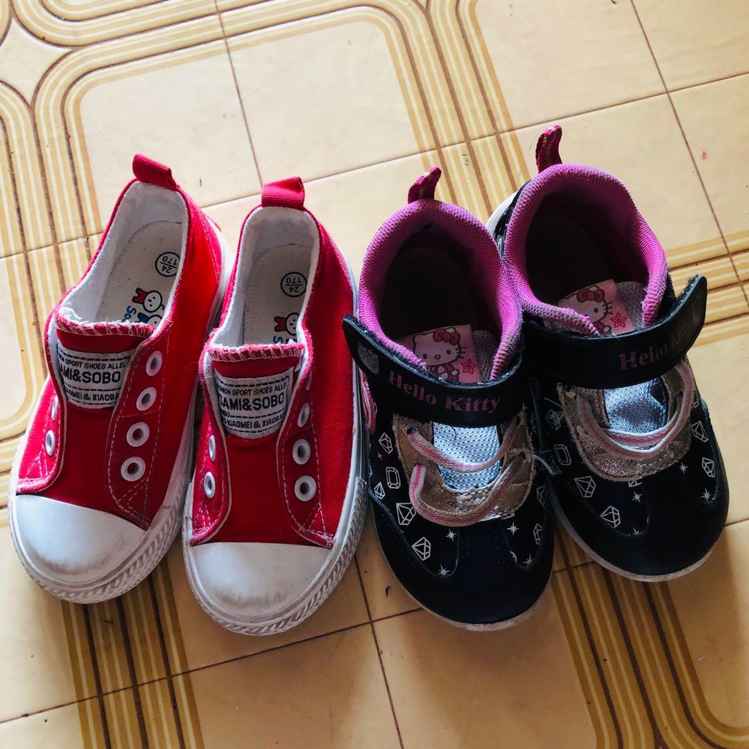 BN Little Girls Kitten Slippers With Velcro Fastening Size 4