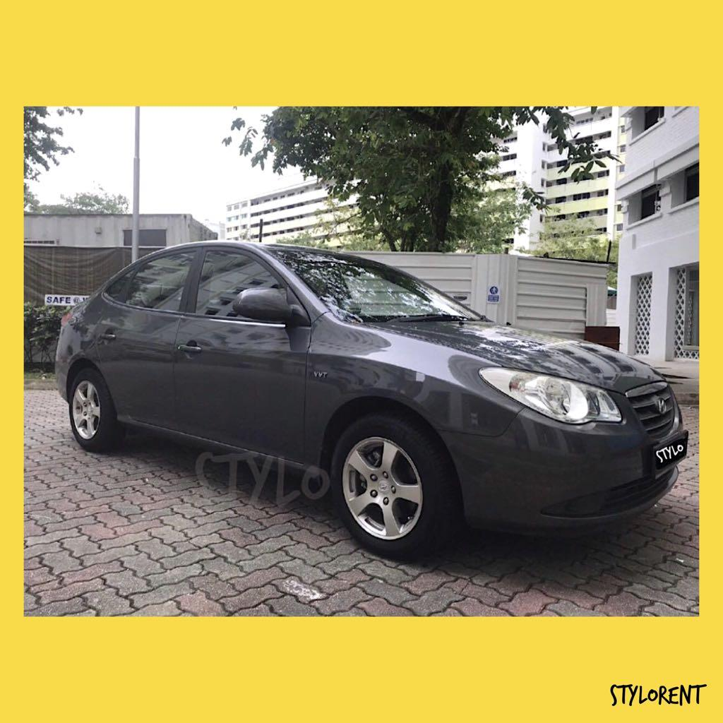 HYUNDAI AVANTE CAR RENT GRAB GOJEK RYDE CHEAP RENTAL FUEL SAVING
