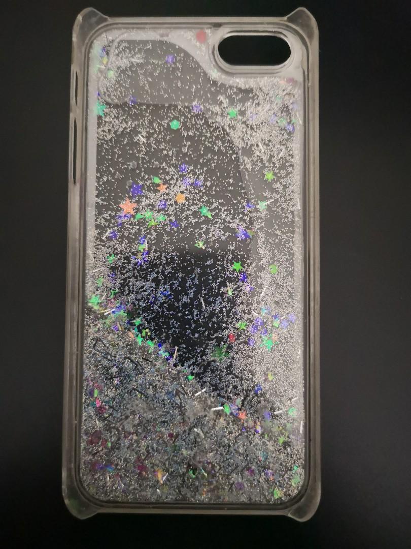 iPhone 5 Glittery Stars Clear Hard Case