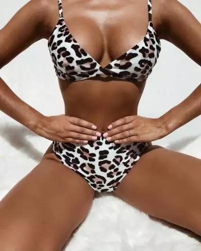 ITFABS Fashion Women Ladies Padded Push Up Leopard print Swimming Suit Swimsuit Swimwear Bikini Sets