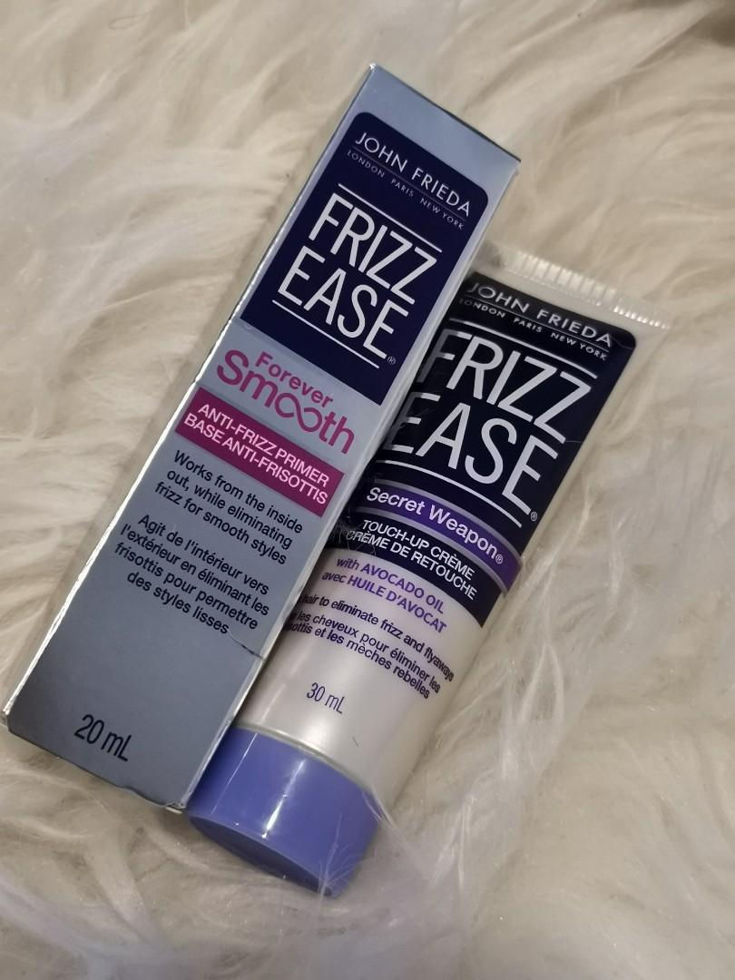 John frieda anti frizz forever smoothe 20ml & secret weapon 30ml