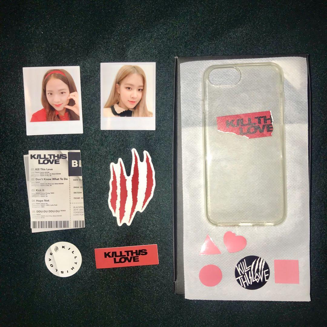 [LOOSE ITEM] Kill This Love Polaroid + Phone Case Set