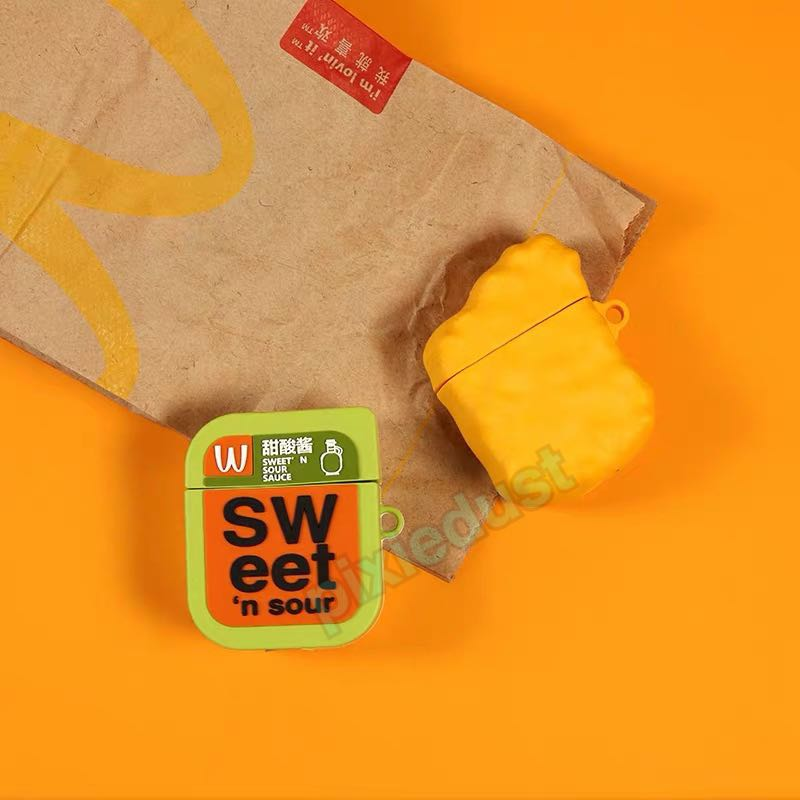 Mcdonald S Chicken Nuggets And Sweet And Sour Sauce Airpod Casing Bulletin Board Preorders On Carousell