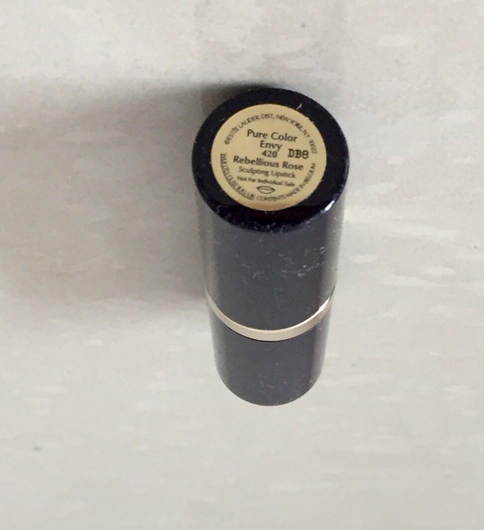 New Estee Lauder Pure Colour Envy Sculpting Lipstick 420       Rebellious Rose