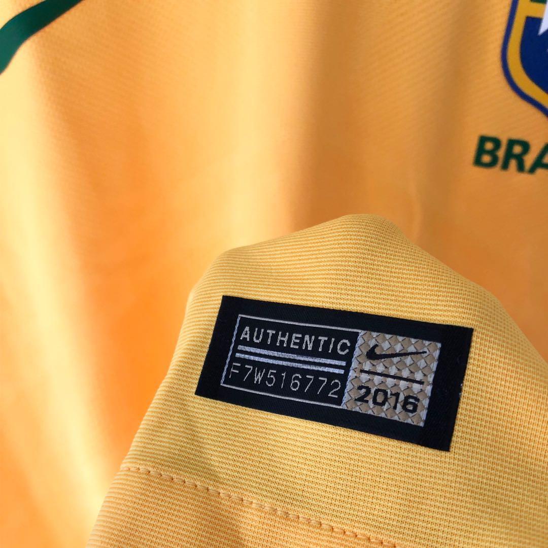 NWOT, Authentic Nike Brazil Football Jersey, Size Large