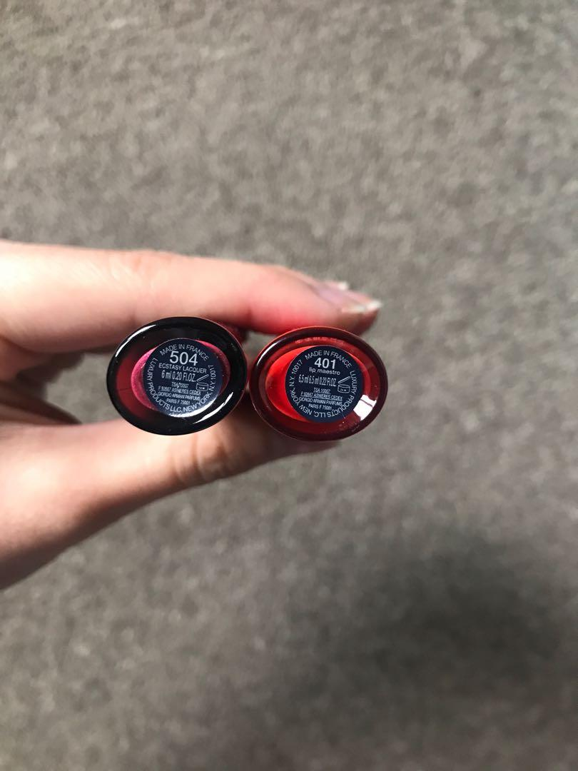 Only try one time -Armani & Estée Lauder lipstick!