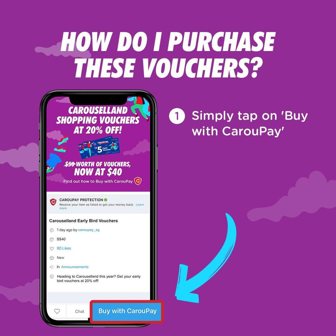 Pay less to shop more at with CarouPay! Get 20% off your Carouselland Vouchers (Now at only $40!)