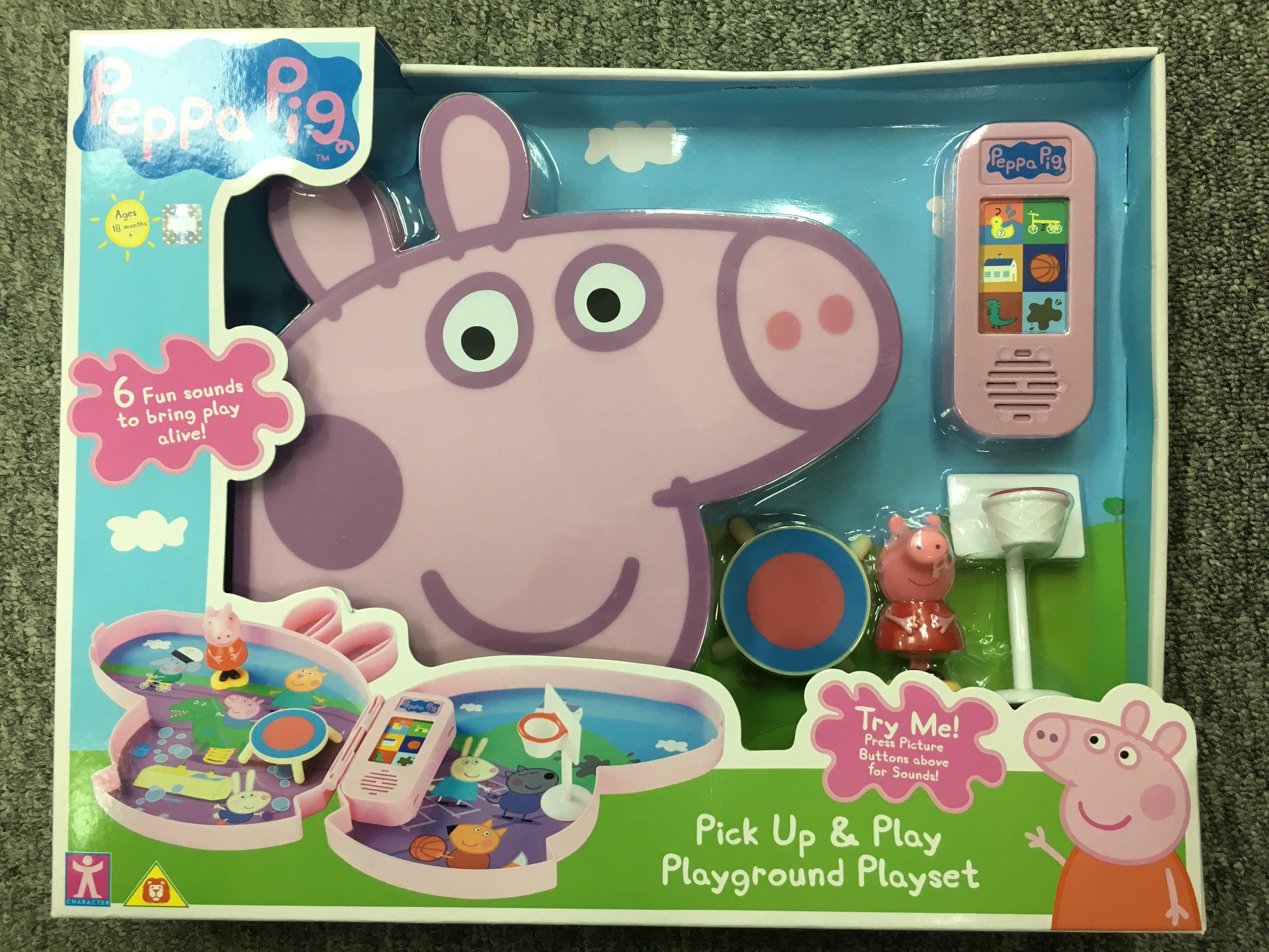 Peppa Pig Pick Up and Play Playground Playset *BRAND NEW*