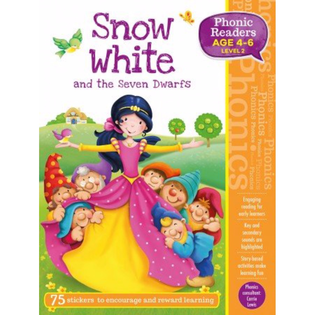 Phonic Readers Level 2 - Snow White and the Seven Dwarfs | Children's Book | Early Readers