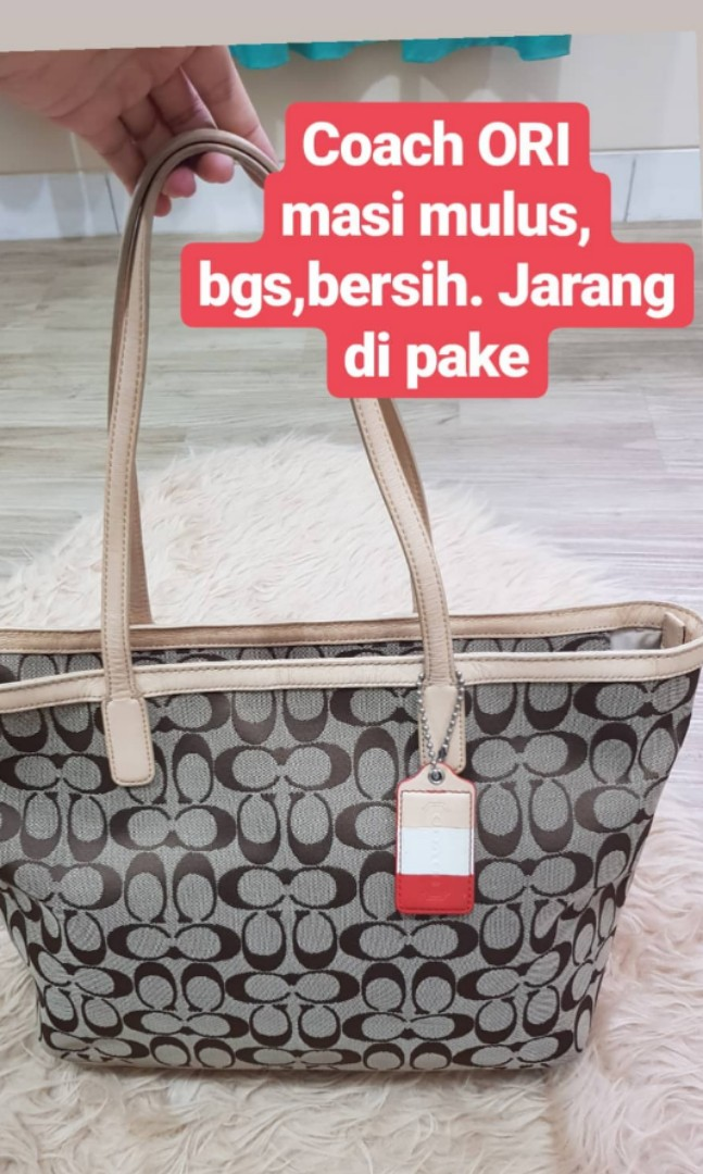 PRELOVED ORIGINAL Coach Tote Bag tas branded #joinjulib#shopbackCaroussel