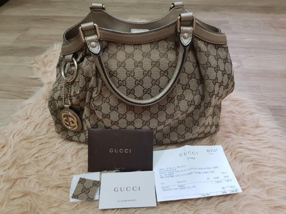 PRELOVED ORIGINAL tas branded Gucci Bag sukey  #joinjuli #ShopbackCarousell