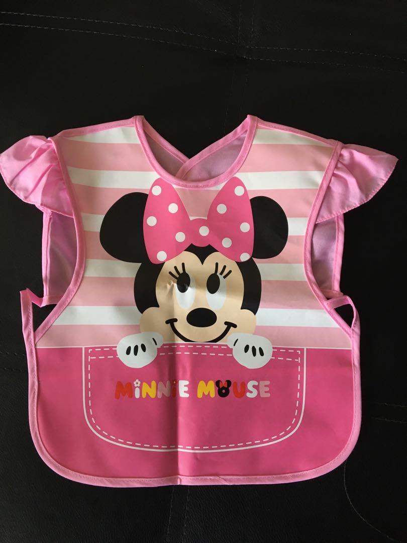 Reusable Bibs Boys Girls Neutral Waterproof Toddler Baby MickeyWinnieDoodleDuck