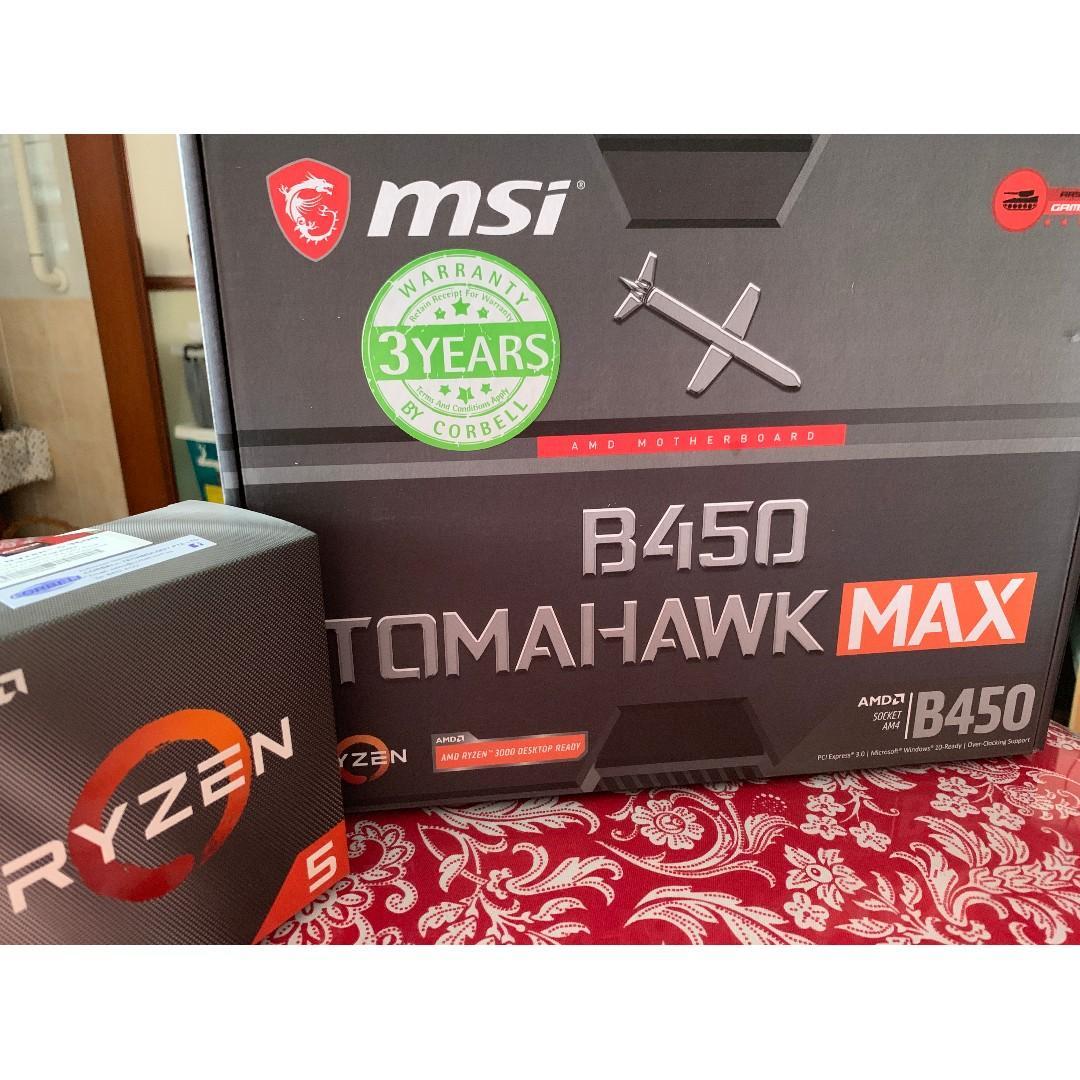 READ DESCRIPTIONS] AMD Ryzen 5 3600 + MSI B450 Tomahawk MAX