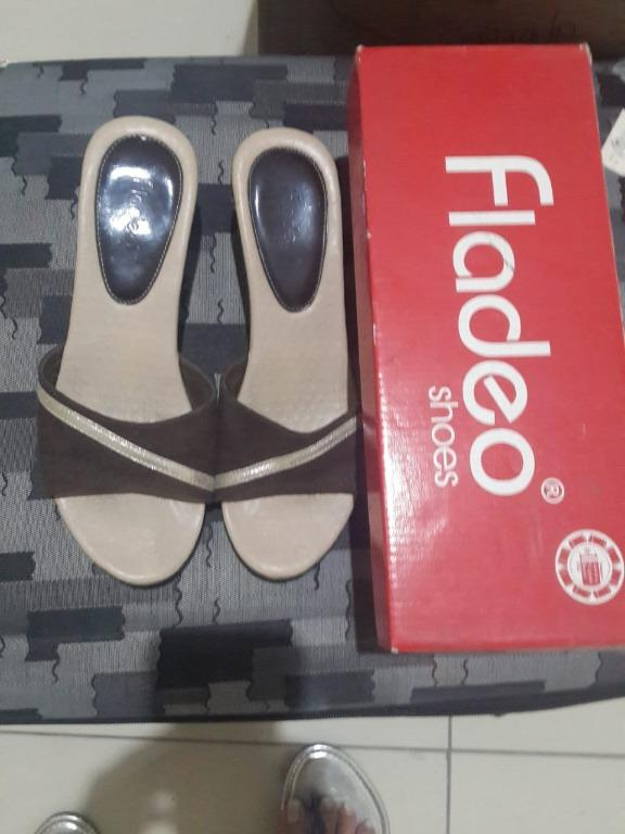 Sepatu Sandal Wedges Shoes Fladeo Wanita