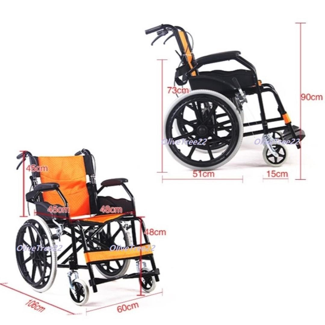 User Self Propel Lightweight Compact Wheelchair with Foldable Handle & Backrest