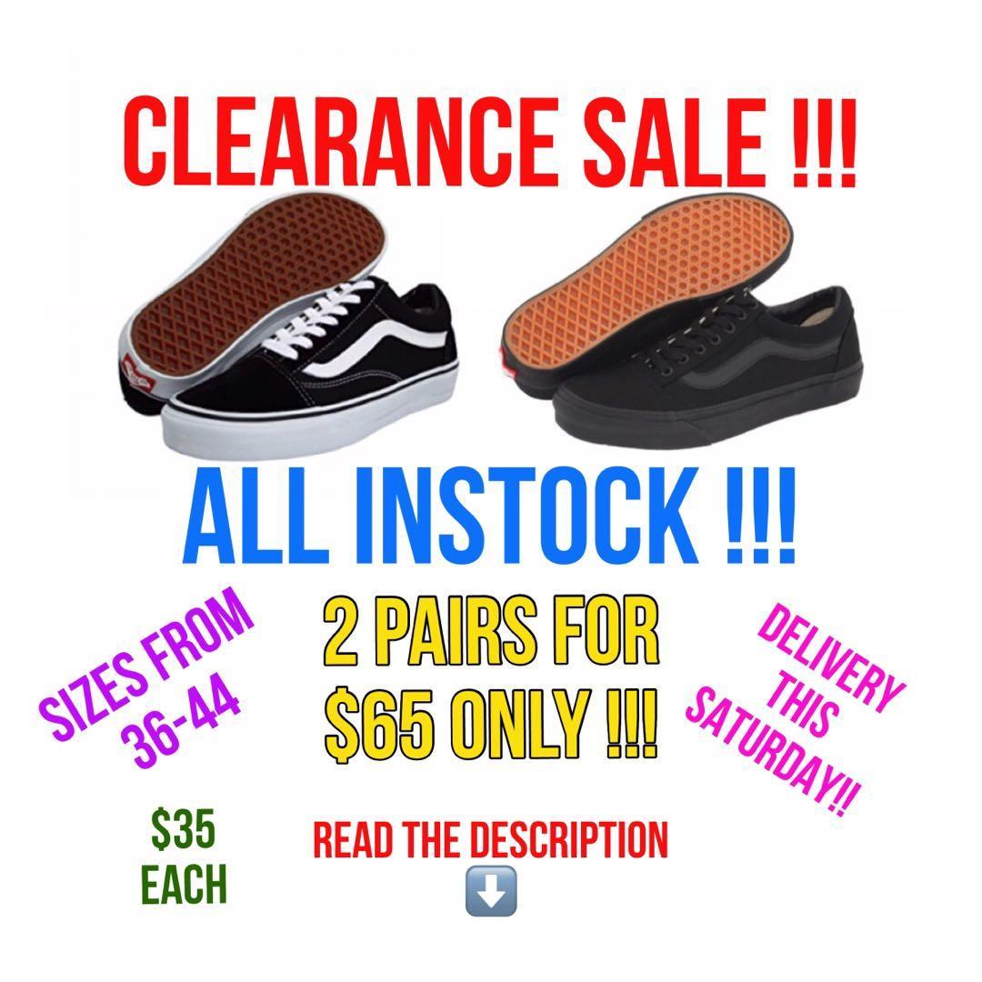 Vans clearance sale !, Women's Fashion