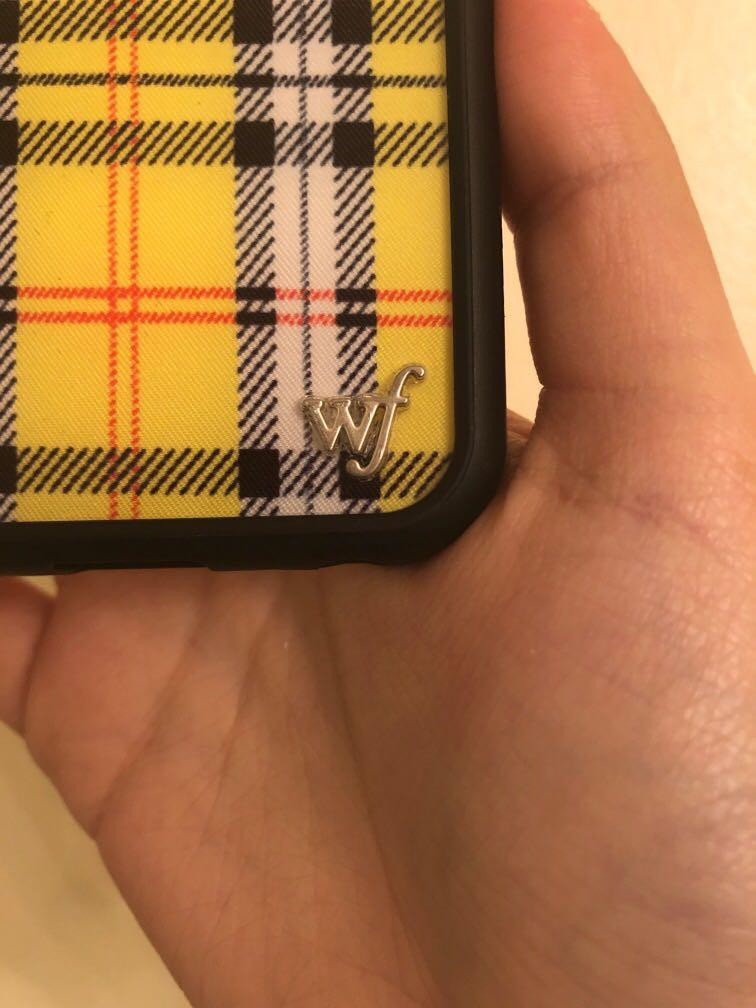 Wildflower yellow black plaid checkered iconic iPhone case 6/6s/7/7s/8