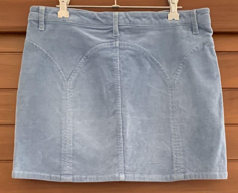 Zimmerman Corduroy Blue mini skirt Size 2 pre loved