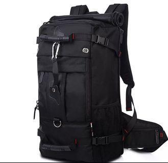 kaka 多功能雙肩包男旅行大背包 運動出行包 防水登山包 戶外露營三合1背包