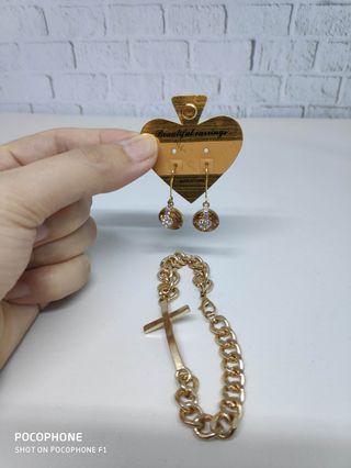 Gold series - anting&gelang