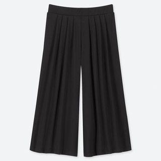 WOMEN Crepe Jersey Flare Wide Cropped Pants