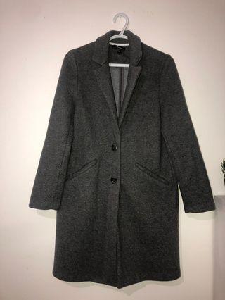 ZARA DGrey Wool Coat