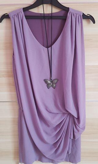 Dress ungu pendek