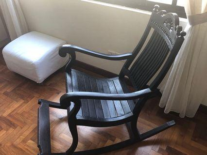 Two country style rocking chairs