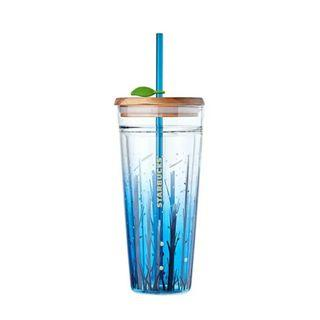 Korea Starbucks Summer Night Firefly Glass Cold Cup 591ml