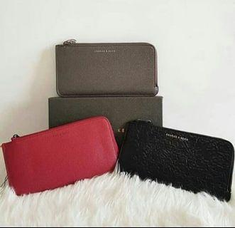 Dompet Charles & Keith Grey