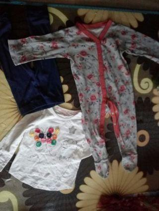 Baby girls set and sleepsuit