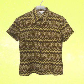 古著襯衫✔迷因圖案×短袖×辣妹款