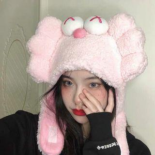 韩国ins风粉色大眼芝麻街头套自拍搞怪帽子抖音网红拍照表演道具