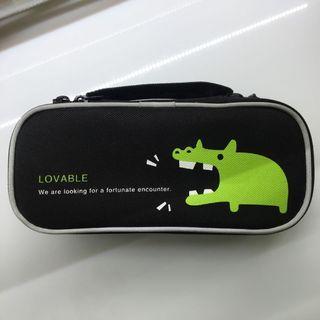 雙層 鱷魚 筆袋