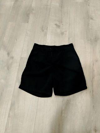 黑色歐美個性西裝短褲