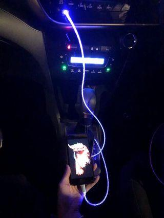 IPhone 5/6/7 USB Cable With Blue LED Light