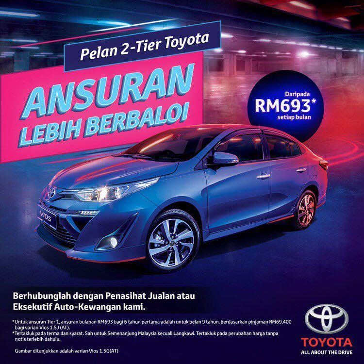 2019 All New Toyota Vios 1.5G-FREE Aerokit+Great Rebate NEW