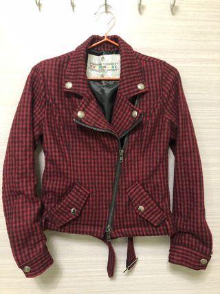 2% 羊毛騎士風夾克